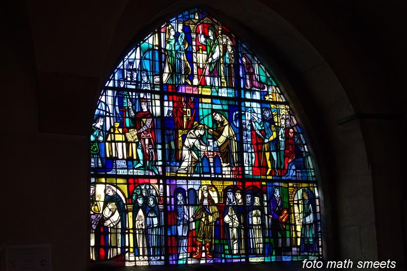 glas in lood uit de eglise St, Michel
