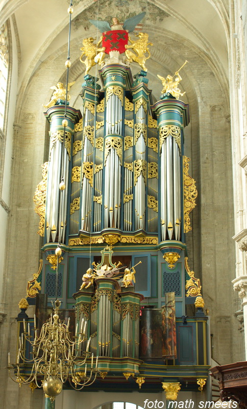 het prachtige orgel in de kerk